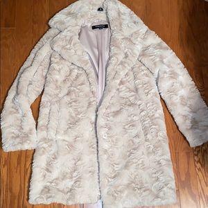 Kenneth Cole beige fur coat